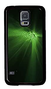 Samsung Galaxy S5 Green Abstract N004 PC Custom Samsung Galaxy S5 Case Cover Black