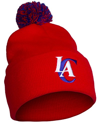 NBA Los Angeles LA Clippers Cuff Pom Pom Beanie Knit Hat Cap by NBA