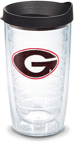 Tervis 1056583 Georgia Bulldogs Logo Tumbler with Emblem and Black Lid 16oz, Clear