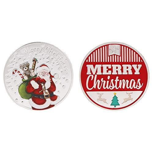 (PoityA Christmas Commemorative Coin Santa Claus Gifts Present Souvenir New Year Crafts)