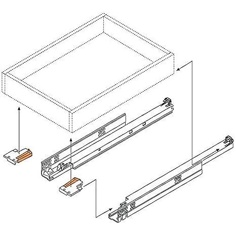 Concealed Pull Out The Slide Rails Concealed Drawer Slides at The Bottom Metal, 22 inch