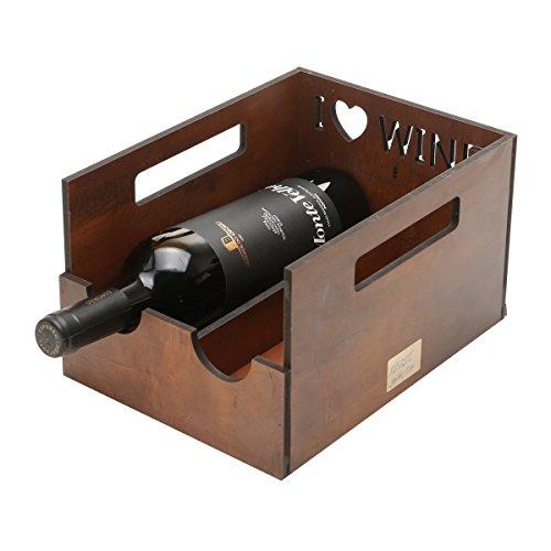 WoodArt Wine Rack / Cellar / Storage- Free Standing, No Assembly Required (2 bottles, Box)