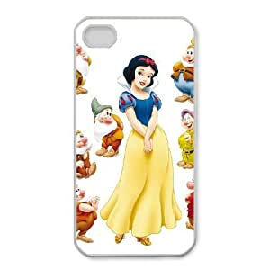 Printed Cover Protector iPhone 4,4S Cell Phone Case Wrmnt Snow White and Seven Dwarfs Unique Design Cases