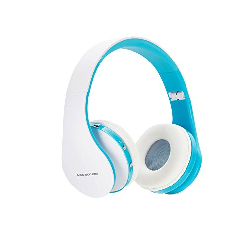 Wireless Headphones,FORTULY Bluetooth Headset with Microphone for Kids Adult ,Lightweight On-Ear Headphones,Earphones for FM Radio MP3 MP4 PC Tablets Mobiles- ()