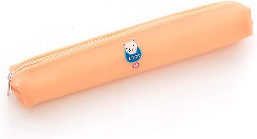 3cm orange Trousse Joli motif Doggy Jelly Gel Mini trousse /à crayons Candy Couleur Maquillage pi/èce de monnaie Pochette pour l/école Fournitures de bureau 18