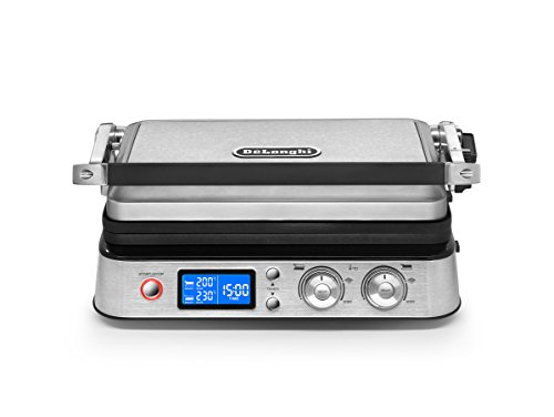 DeLonghi America CGH1020D Livenza All Day Combination Contact Grill and Open Barbecue, Stainless Steel