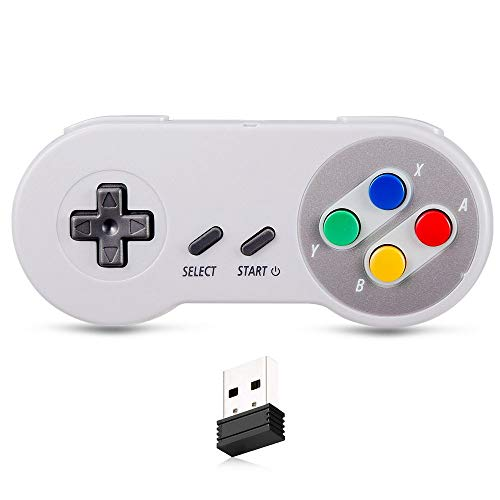 Bemz 2.4Ghz Wireless USB Reciever Classic Retro Game Controller Compatible with PC/MAC/Windows/Raspberry PI - Multicolor Buttons from Bemz