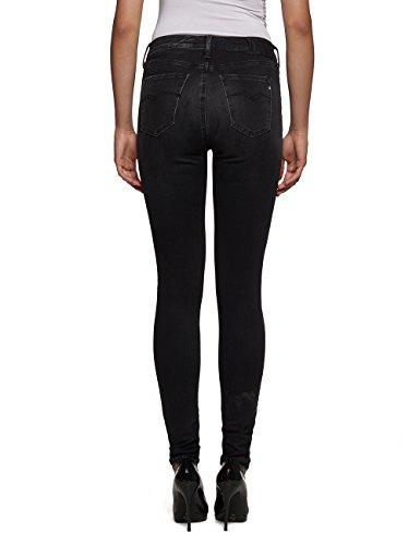 Replay Biker Mujer Ajustados Negro 9 black Joi Denim Para Jeans ggHnBwprx
