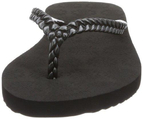 slim kilim 30269 - Chanclas de caucho para mujer, color negro, talla 36 Flip*Flop