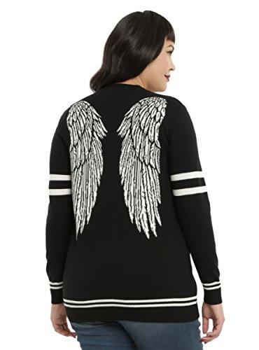 Supernatural Castiel Wings Girls Cardigan Plus Size