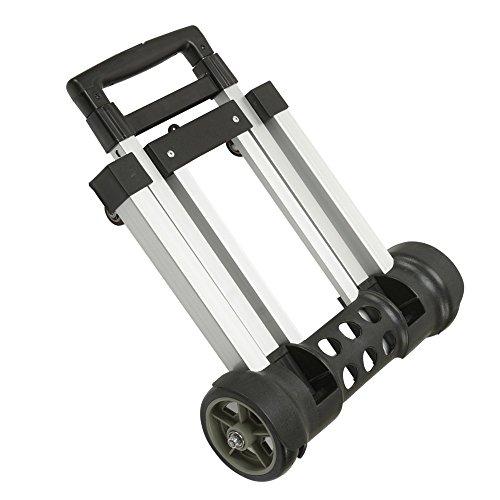 waygo carretilla de mano plegable de aluminio, peso ligero plegable con ruedas, carrito plegable con ruedas para carga y...