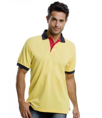 Kustom Kit Herren Poloshirt Gr. S, Blau - Navy