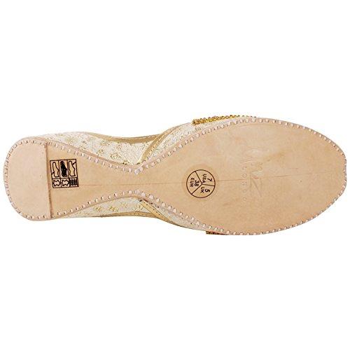 Khussa Dimensioni 3 Unze Casual Tradizionale Le Jamawar Donne Coco Piana di Oro 8 Perle UK Paillettes Ladies Indiano wPq14w