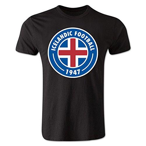 Iceland Core Logo T-Shirt (Black) B0784778JXBlack Medium (38-40\