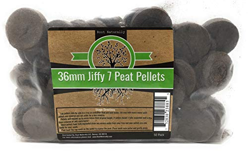 (Root Naturally Jiffy-7 36mm Peat Pellets - 50 Count by Root Naturally)