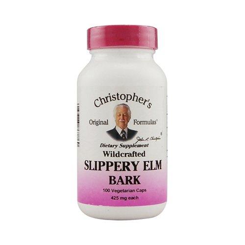 Christophers Скользкий коры вяза - 425 мг - 100 Вегетарианская капсулы