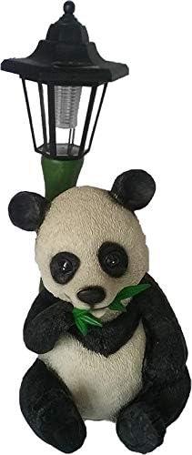 Aspinaworld Ours de panda avec lanterne solaire 42 cm
