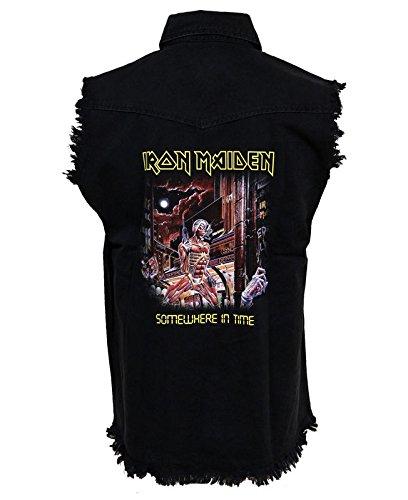 Iron Maiden Men's Somewhere In Time Work Shirt X-Large Black