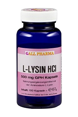Gall Pharma L-Lysin HCl 500 mg GPH Kapseln 100 Stück