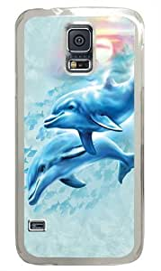 Dolphin Sunset Polycarbonate Hard For Case Ipod Touch 4 Cover For Case Ipod Touch 4 Cover Transparent