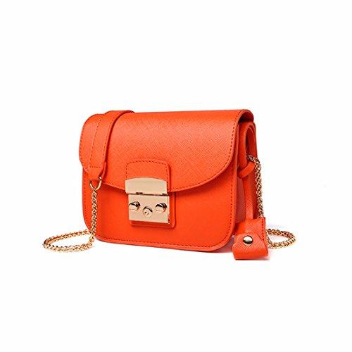 Moda borsa Messenger catena quadrata piccola borsa borsetta in autunno e in inverno, borsette, arancione