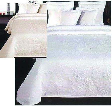 Dulcehogar Colcha Pique Floral 25% algodón. (Crudo, 180 Cama 90 Cm): Amazon.es: Hogar