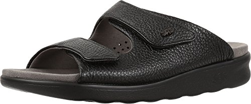Sas Womens Cozy Black Leather Sandal 9.5 W by SAS