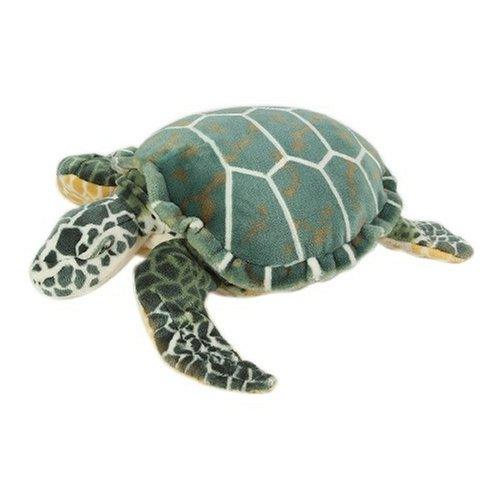 Melissa & Doug Sea Turtle Giant Stuffed Animal, Wildlife, Soft Polyester Fabric, Beautiful Sea Turtle Markings, 24″ H × 22″ W × 7.9″ -