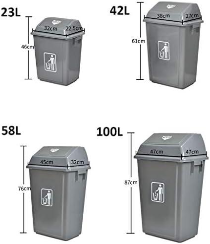 ゴミ袋 ゴミ箱用アクセサリ 商業屋外のプラスチック振動カバーのゴミ箱の健康ホテルのコミュニティ分類のゴミ箱任意4つのモデル キッチンゴミ箱 (サイズ : 100L)