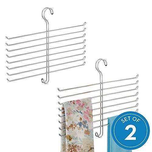 - InterDesign Classico Spine Scarf Closet Organizer Hanger - Set of 2 Holder
