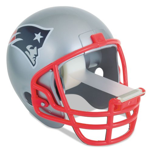 Scotch Magic Tape Dispenser, New England Patriots Football Helmet with 1 Roll of 3/4 x 350 Inches Tape