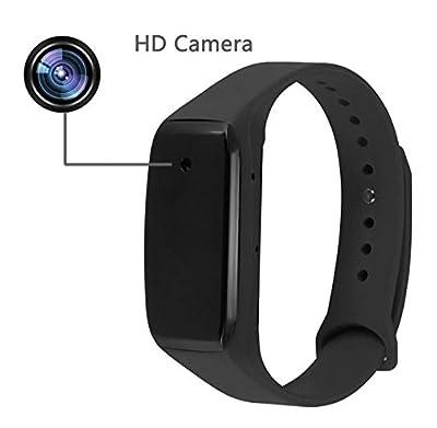 LW Mini Body Cam Camcorder1080P HD Dvr Hidden Camera Intelligent Bracelet Wristband Cameras Camcorders Video Recorder DV Cam Sport Camera Black