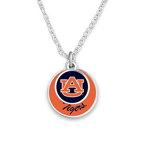 From the Heart College Team Stacked Disk Necklace (Auburn Tigers)