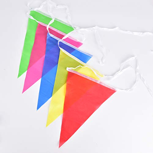 Banners, Streamers & Confetti - 8m Banner Flags Hang Triangles String Wedding Party Decor Colorful Bunting Warning Brithday - Star Enginering Green Heavy Secrets Mermaid Rods Rainbow Farm -