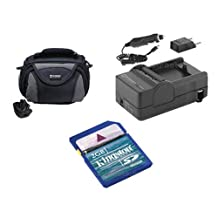 JVC GZ-E200 Camcorder Accessory Kit includes: SDM-1550 Charger, KSD2GB Memory Card, SDC-26 Case