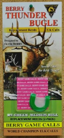 Berry Thunder Bugle Double Rplacement Reeds Medium Bull Elk