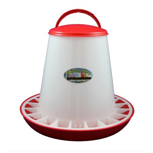 3kg Red and White Economy Hanging Feeder with Lid Country Fayre (UK) Ltd