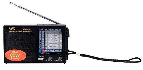 QFX R-9BLK AM/FM/MW/SW1-7 Radio - Black