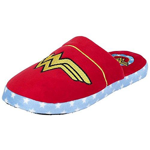 Disfraz oficial de DC Comics Wonder Woman Logo diseño Mule Slip On Zapatillas–nuevo