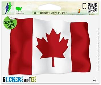 Canadian Flags Contour  Cut Vinyl Sticker Bundle Canada Day