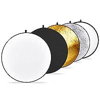 Nuevo reflector de luz multi-disco plegable 43 en 1/110 cm con bolsa, translúcido, plateado, dorado, blanco y negro