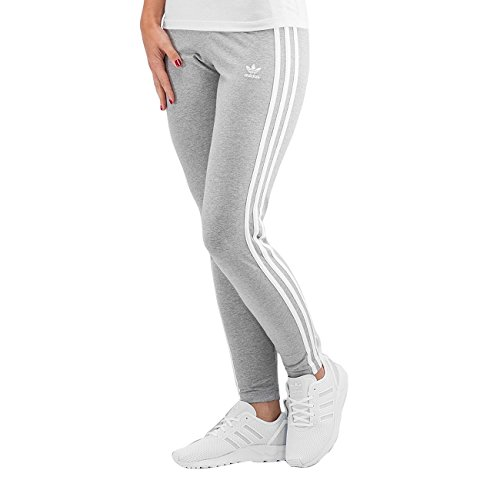 adidas 3 – Stripes Leggings, mujer, 3-Stripes, negro, 48 gris