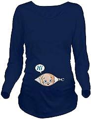 ShiyiUP Pregnancy Shirts Funny Pregnant T Shirts Cute