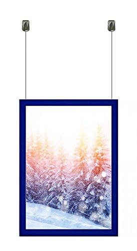 Retrato azul A4 A3 A2 A1 A0 techo para colgar, marcos de pared de aluminio soporte ...