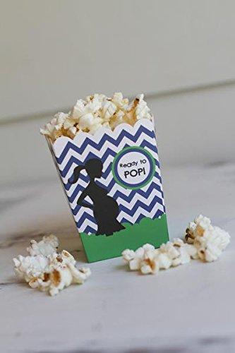 Amazon Ready To Pop Chevron Green Blue Baby Shower Popcorn