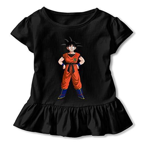 JUDSON Personalized Beautiful Tee Renders Goku Dragon Ball Z Logo Flouncing Skirt T Shirts for Girls' Black (Episodios De Dragon Ball Z En Espanol Latino)