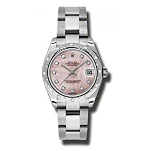Rolex Lady-Datejust 31 178344 Pink Mother of Pearl Dial with Diamonds