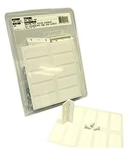 FastCap White Polycarbonate Kolbe Korner -50 Pack (Includes 250 Screws & 100 Kolbe Korner Fastcaps)