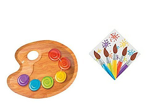 Lil' Artist Birthday Party Dessert Plates & Beverage Napkins Party Kit for 8