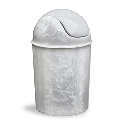Umbra Mini Waste Can, White/Onyx